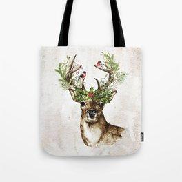 Rustic Christmas Deer Tote Bag