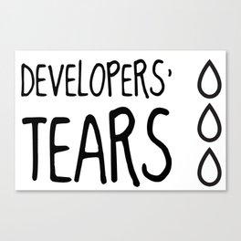Developers' Tears Canvas Print