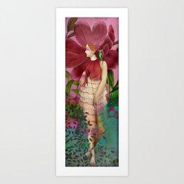 Red Gardens Art Print