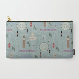 London Map Print Illustration Carry-All Pouch