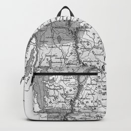 Vintage Map of Vermont (1827) BW Backpack