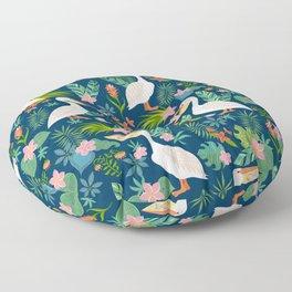 Floral Pelican Floor Pillow