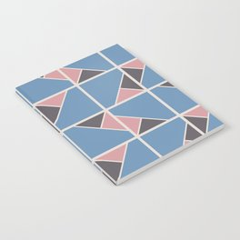 Retro Geometry surface pattern (Pink-blue) Notebook