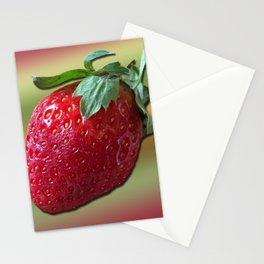 Delicious strawberry Stationery Cards