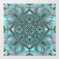 snowflake Canvas Prints featuring Snowflake by Lyle Hatch