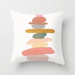 Balancing Stones 22 Throw Pillow