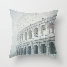 Letters From The Colosseum - Rome Throw Pillow
