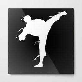 Karate Fighter Martial Art MMA Motif Metal Print