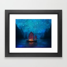 Our Secret Harbor Framed Art Print
