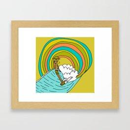 groovy vibes hang 10 by surfy birdy Framed Art Print