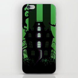 Be it ever so Haunted, there's no place like Home - Green iPhone Skin