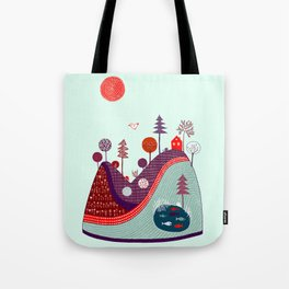 BLUE PURPLE HILL Tote Bag