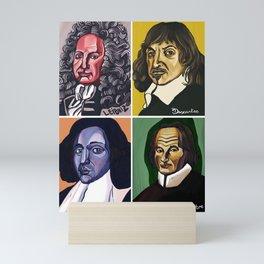 Leibniz Descartes Spinoza Malebranche Mini Art Print