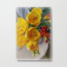 freesias bouquet Metal Print