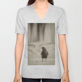 Betsy's Crow In The Snow Unisex V-Neck