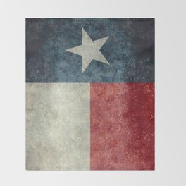 Texas state flag, Vintage banner version Throw Blanket
