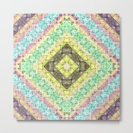 Colorful abstract pattern, patchwork, multicolored, plaid 2 Metal Print