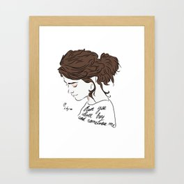Run You Clever Boy and Remember Framed Art Print