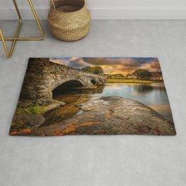 Pont Pen-y-llyn Bridge Snowdonia Rug