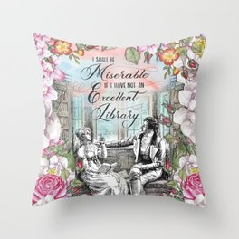Excellent Library - Pride and Prejudice Throw Pillow