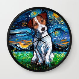 Jack Russel Terrier Night Wall Clock