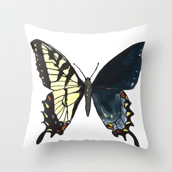 Gynandromorph No.1 Naturalist Butterflies Throw Pillow