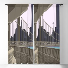 Modern City Blush Sky Blackout Curtain