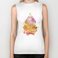 bubblegum Biker Tanks featuring Bubblegum by Saravo Studio
