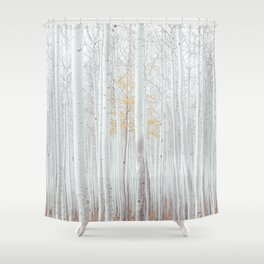 White tree forest Shower Curtain