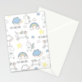 I am a Unicorn Stationery Cards