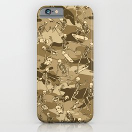 Grim Ripper Skater Camo DESERT iPhone Case