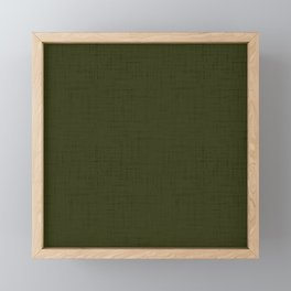 Dark olive textured. 2 Framed Mini Art Print