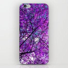 purple tree III iPhone Skin
