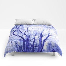 Blues In Winter Comforters