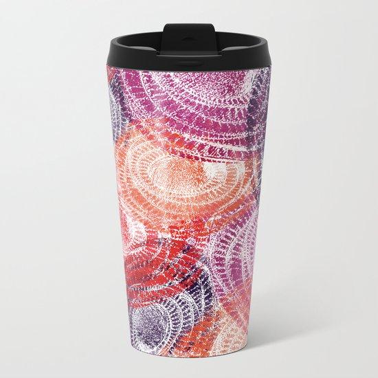 Abstract Circles Metal Travel Mug