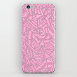 Ab Out Double Pink and Grey iPhone Skin