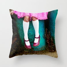 I am so girly Throw Pillow