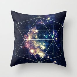 Galaxy Sacred Geometry: Golden Rectangles Throw Pillow