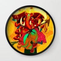 ganesh Wall Clocks featuring Ganesh by marekolani