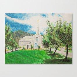 Mount Timpanogos Utah LDS Temple 3 Canvas Print