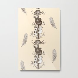 CATS & FEATHERS  Metal Print