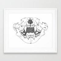 animal skull Framed Art Prints featuring animal skull by DanaSlatkyArt