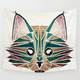 blue cat  Wall Tapestry