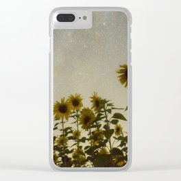 Sunflower Cosmos Clear iPhone Case