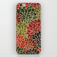 iPhone & iPod Skins featuring Floral Abstract 7 by Klara Acel