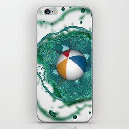 Beach ball Splash iPhone Skin