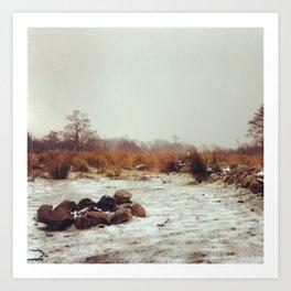 Scottish Highlands: The Falling Freeze Art Print