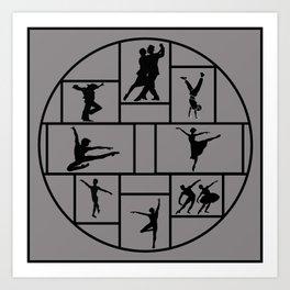 Dance Styles Art Print
