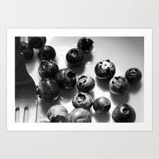 Morning Blueberries Art Print