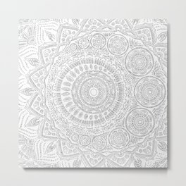 Untitled II (white on white) Metal Print